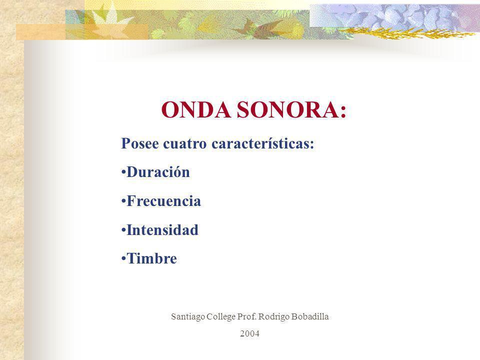 Santiago College Prof. Rodrigo Bobadilla
