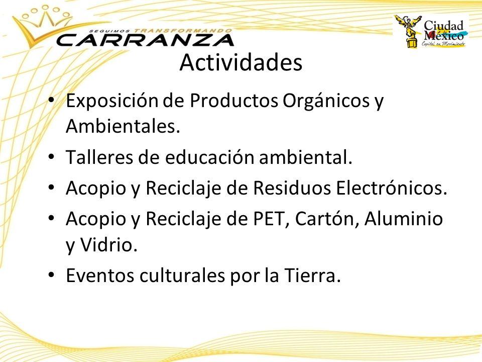 Actividades Exposición de Productos Orgánicos y Ambientales.