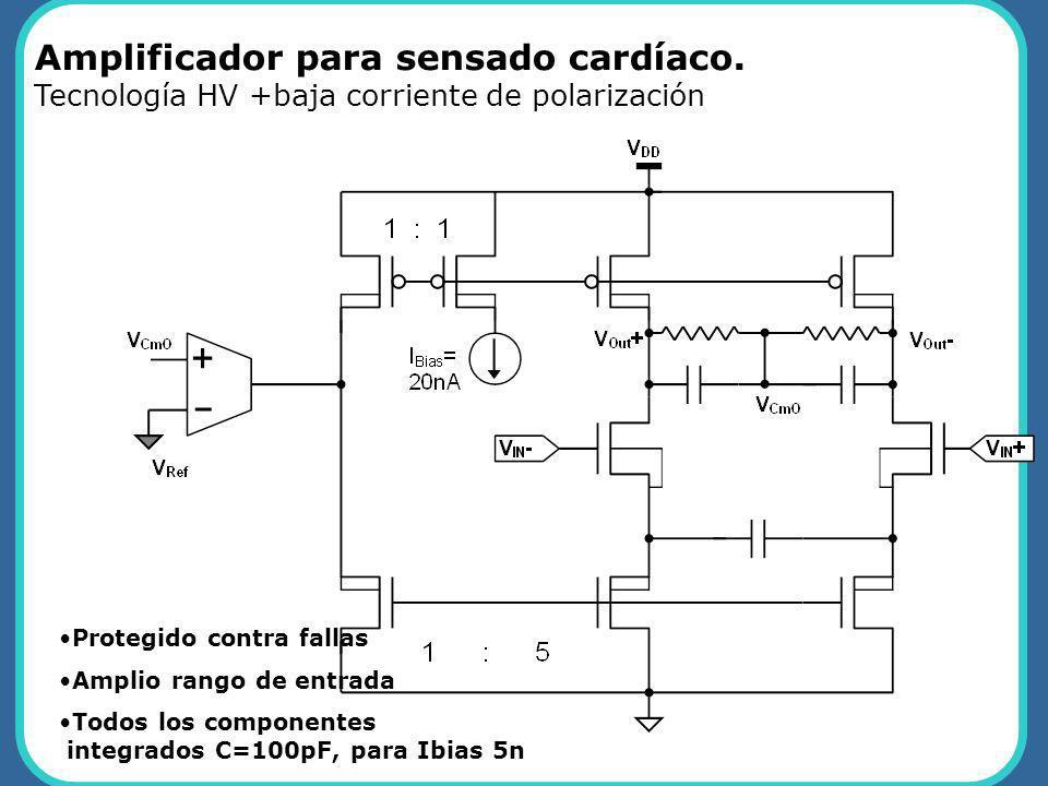Amplificador para sensado cardíaco