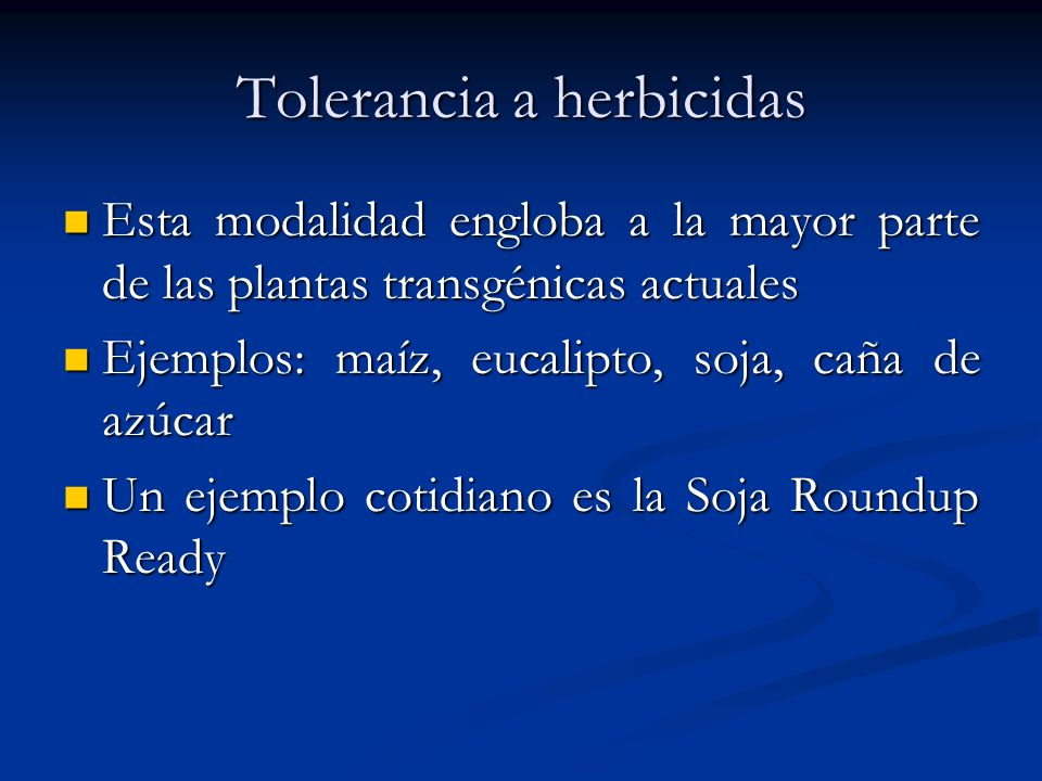 Tolerancia a herbicidas