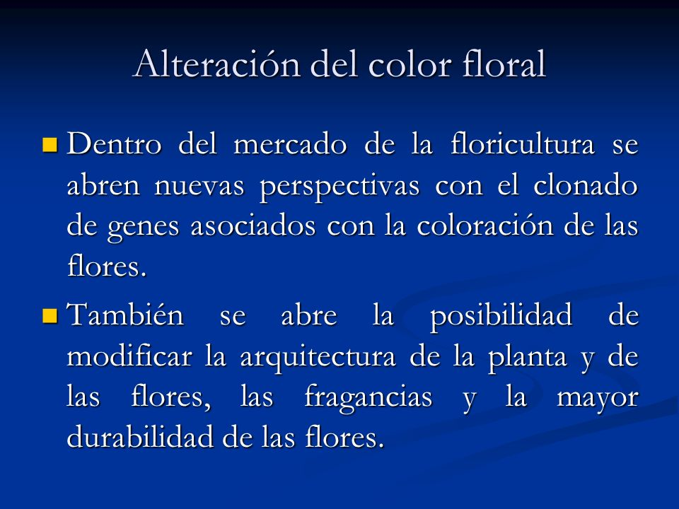 Alteración del color floral