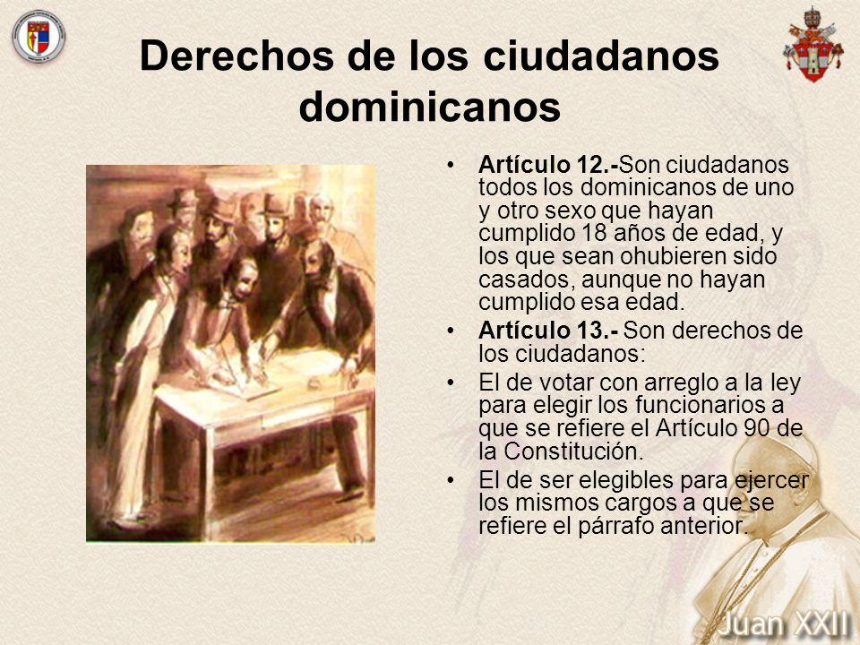 Derechos de los ciudadanos dominicanos