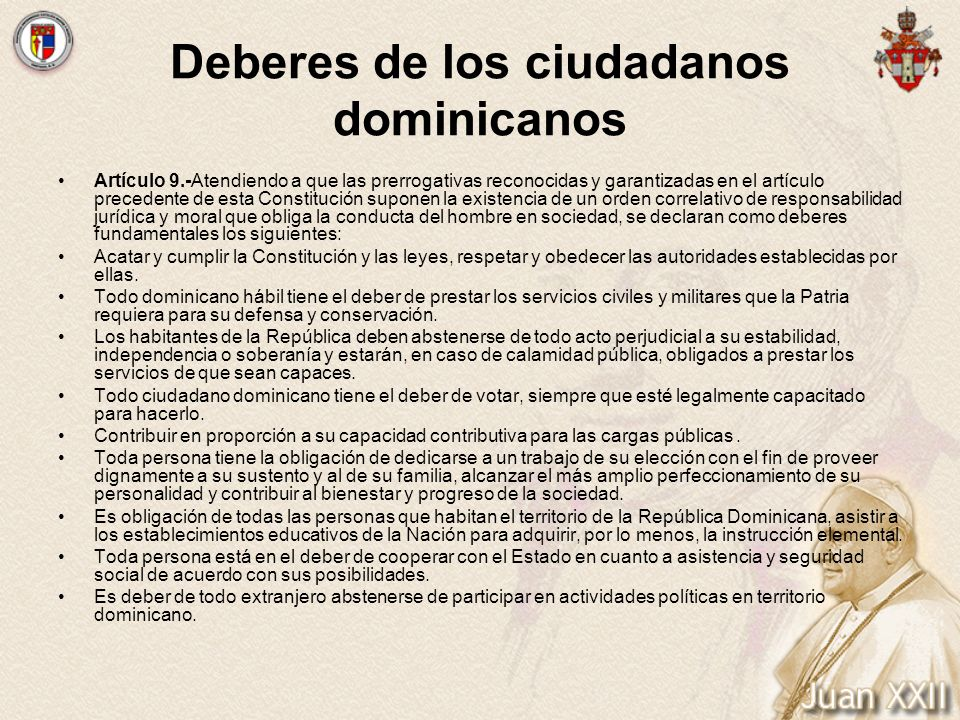 Deberes de los ciudadanos dominicanos