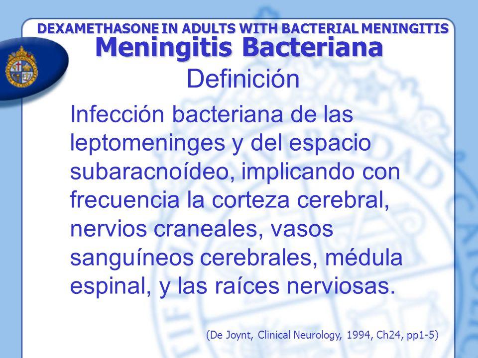 Meningitis Bacteriana Definición