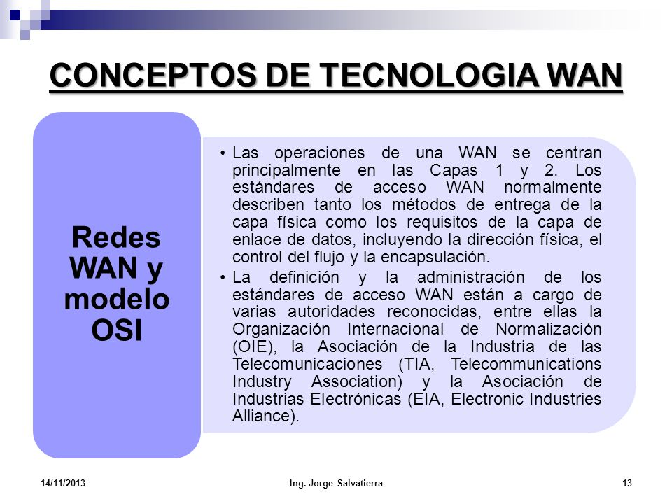 CONCEPTOS DE TECNOLOGIA WAN