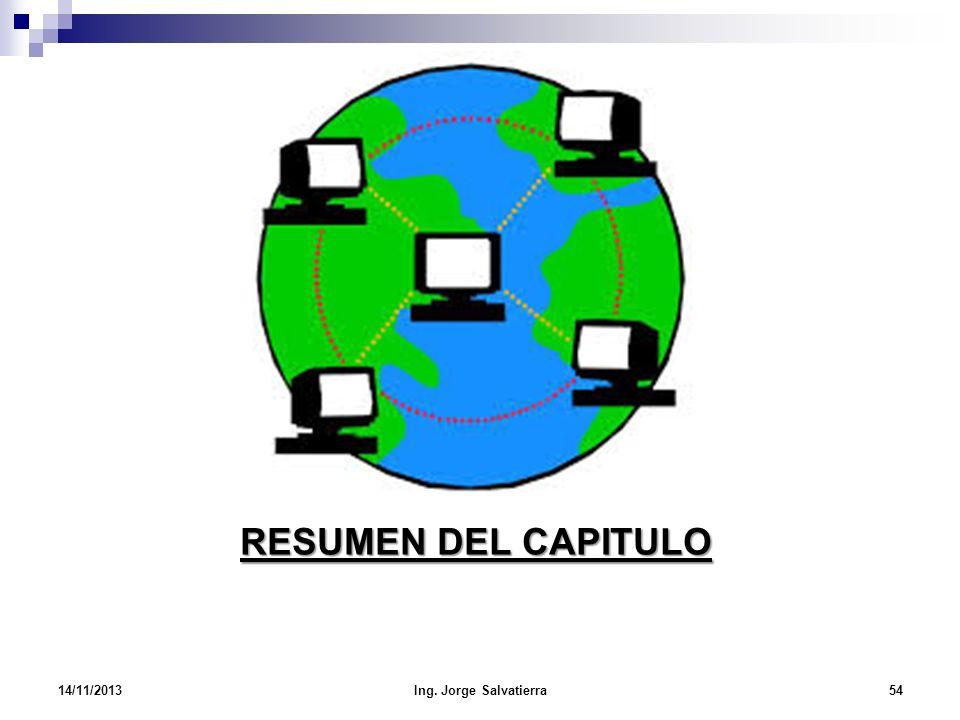 RESUMEN DEL CAPITULO 23/03/2017 Ing. Jorge Salvatierra