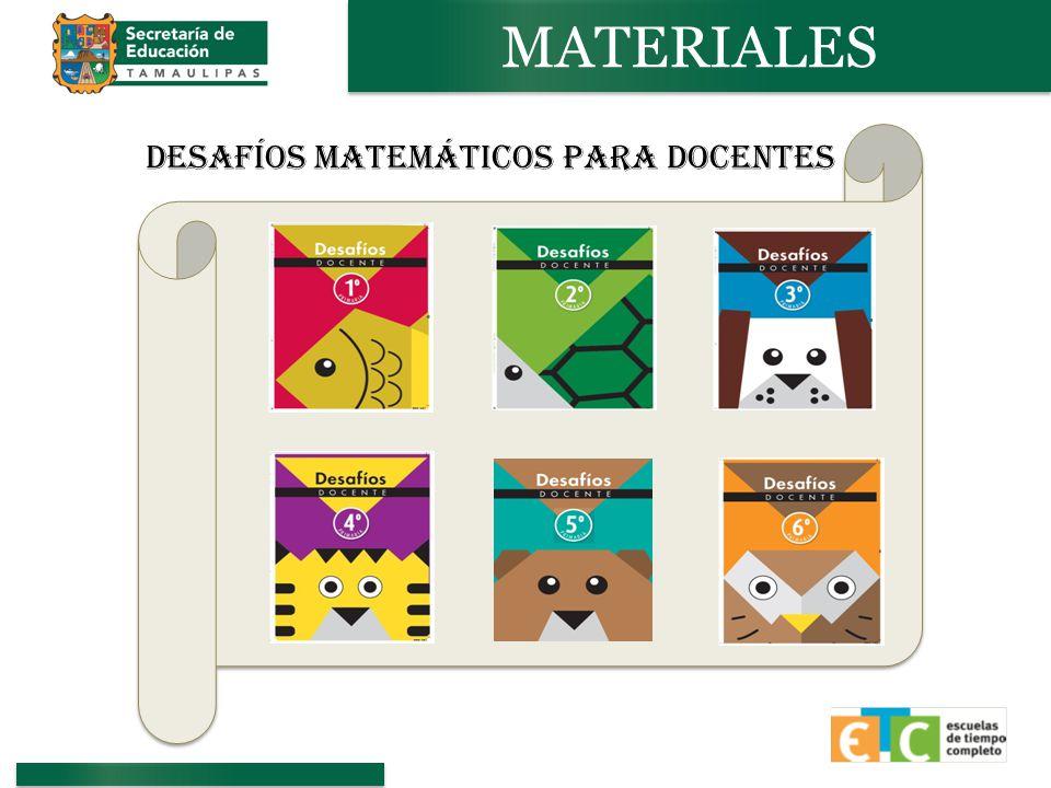 DESAFÍOS Matemáticos PARA DOCENTES