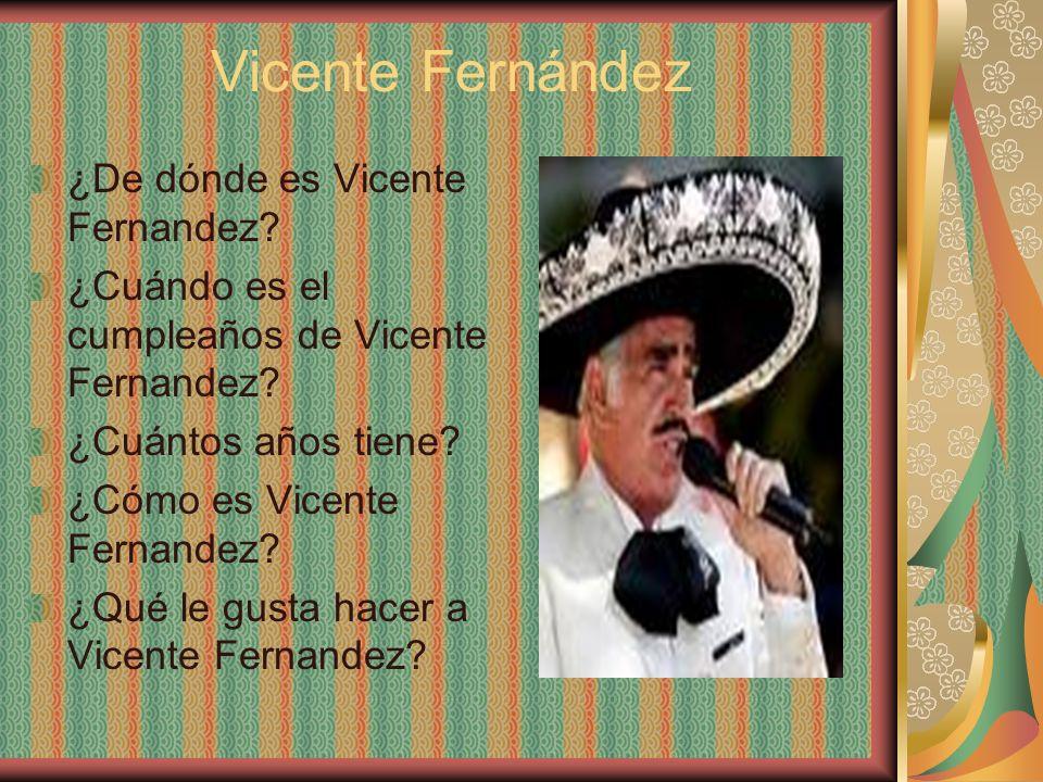 Vicente Fernández ¿De dónde es Vicente Fernandez