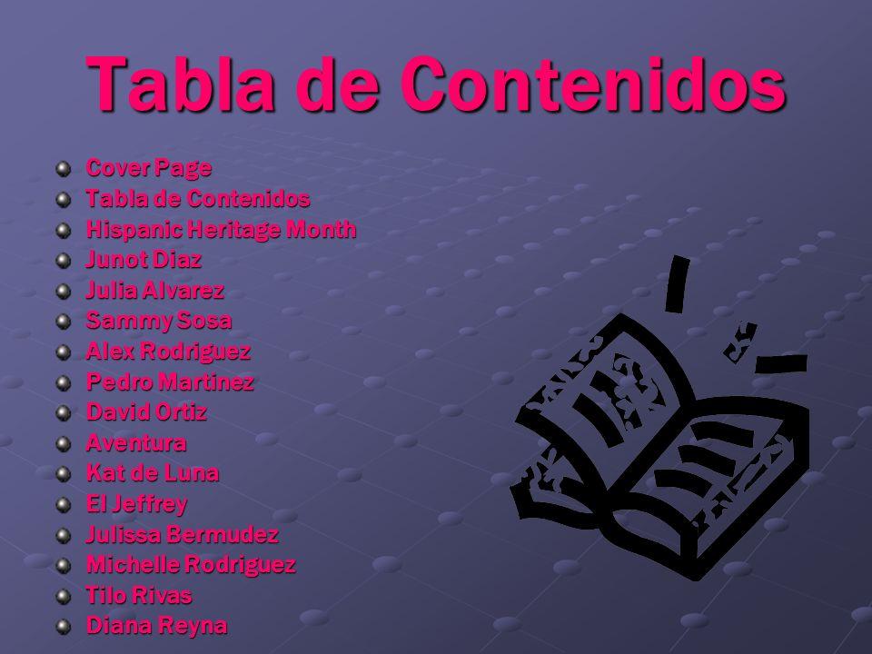 Tabla de Contenidos Cover Page Tabla de Contenidos