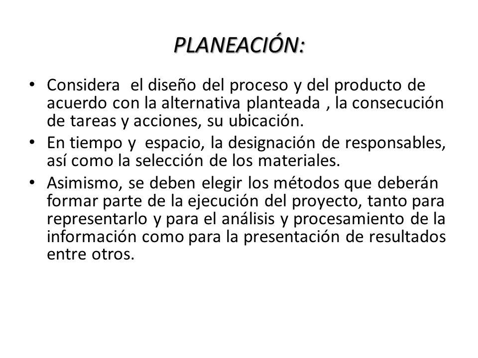 PLANEACIÓN: