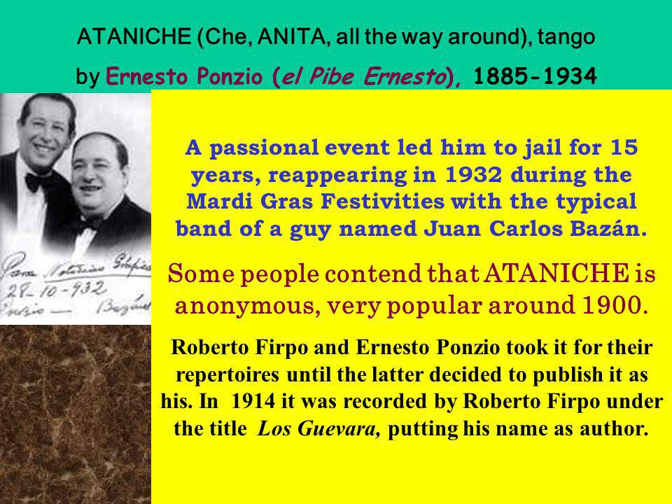 ATANICHE (Che, ANITA, all the way around), tango