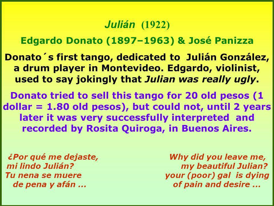 Edgardo Donato (1897–1963) & José Panizza