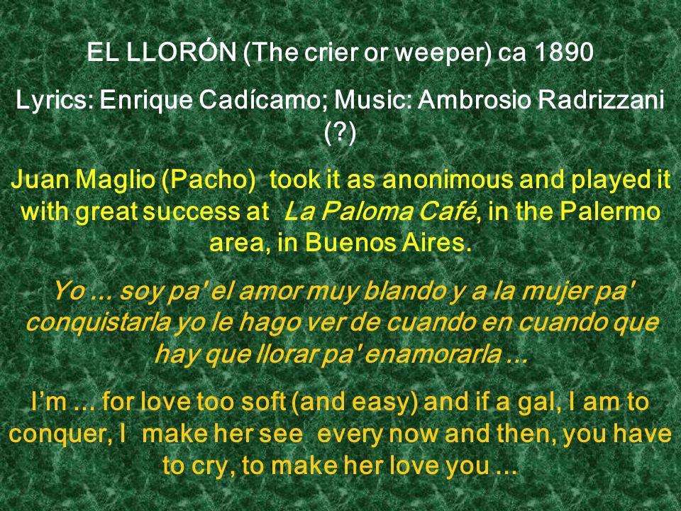EL LLORÓN (The crier or weeper) ca 1890