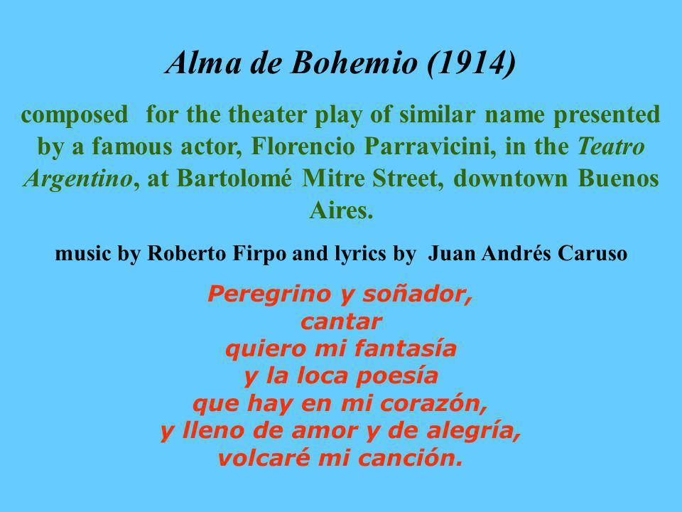 music by Roberto Firpo and lyrics by Juan Andrés Caruso