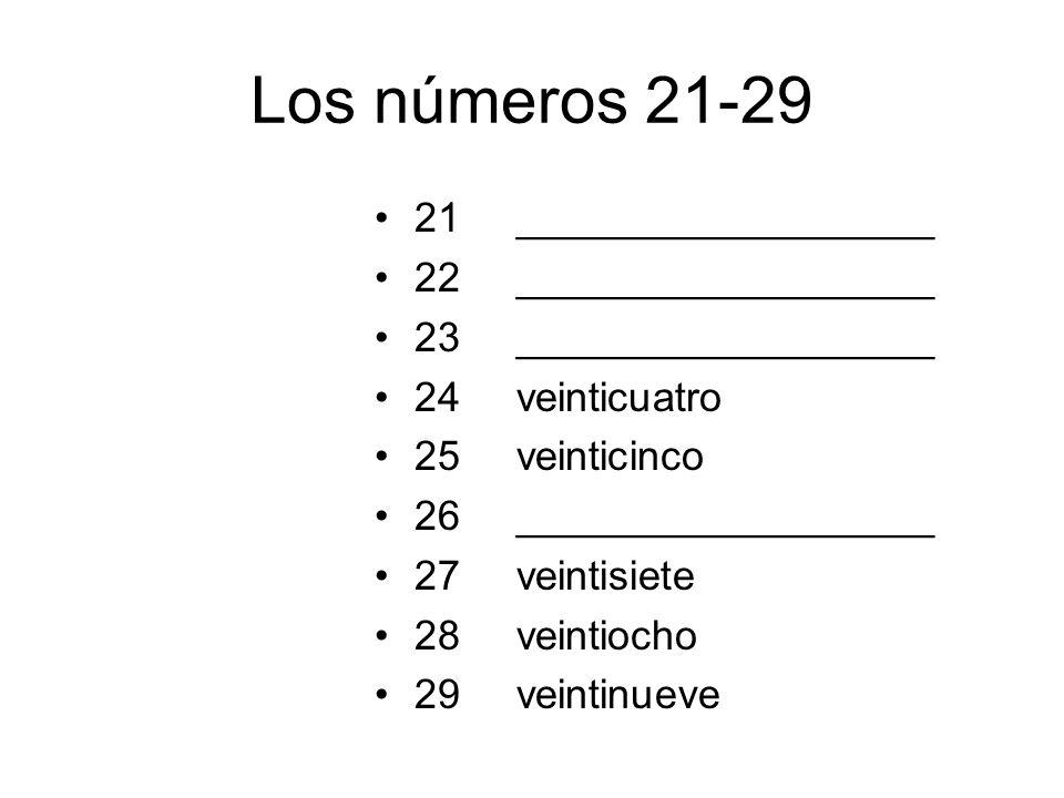 Los números 21-29 21 22 23 24 25 26 27 28 29 __________________