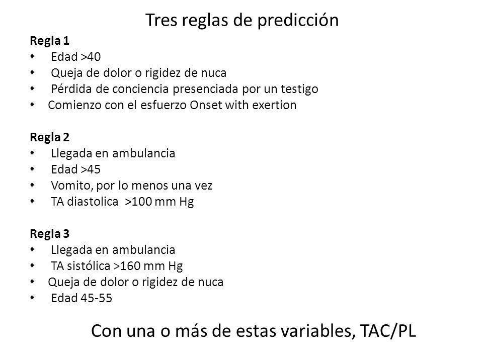 Tres reglas de predicción