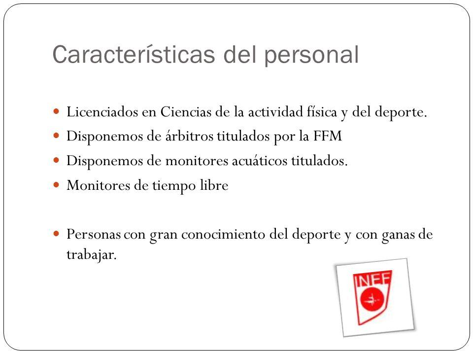 Características del personal