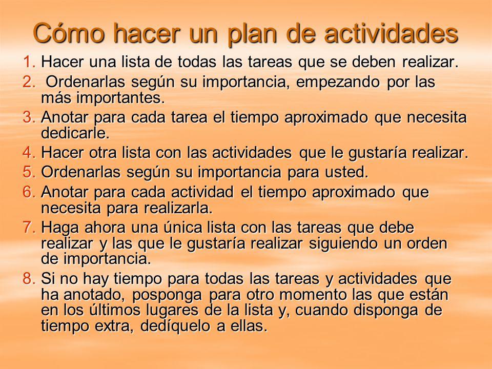 Cómo hacer un plan de actividades