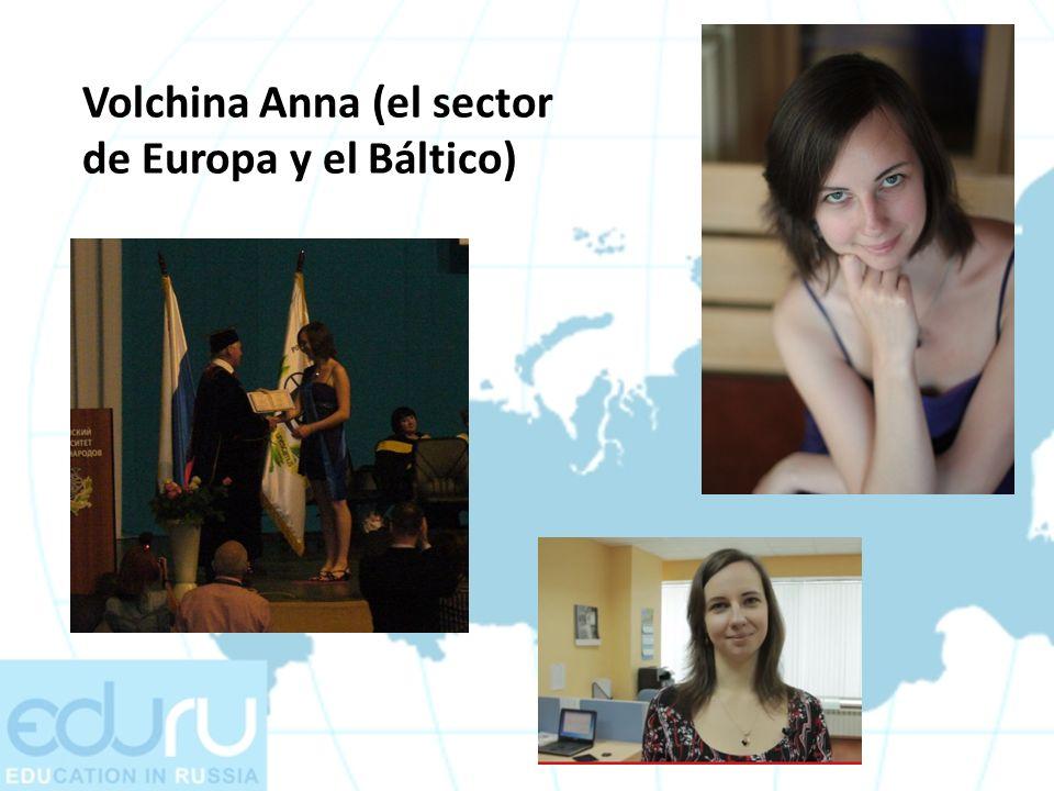 Volchina Anna (el sector de Europa y el Báltico)