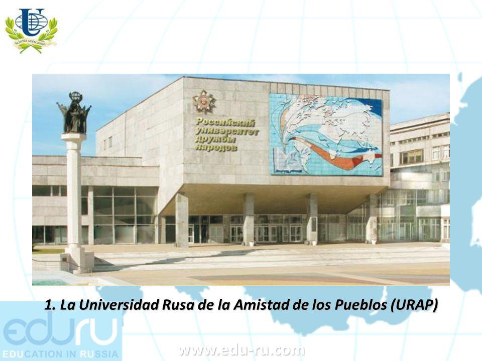 1. La Universidad Rusa de la Amistad de los Pueblos (URAP)