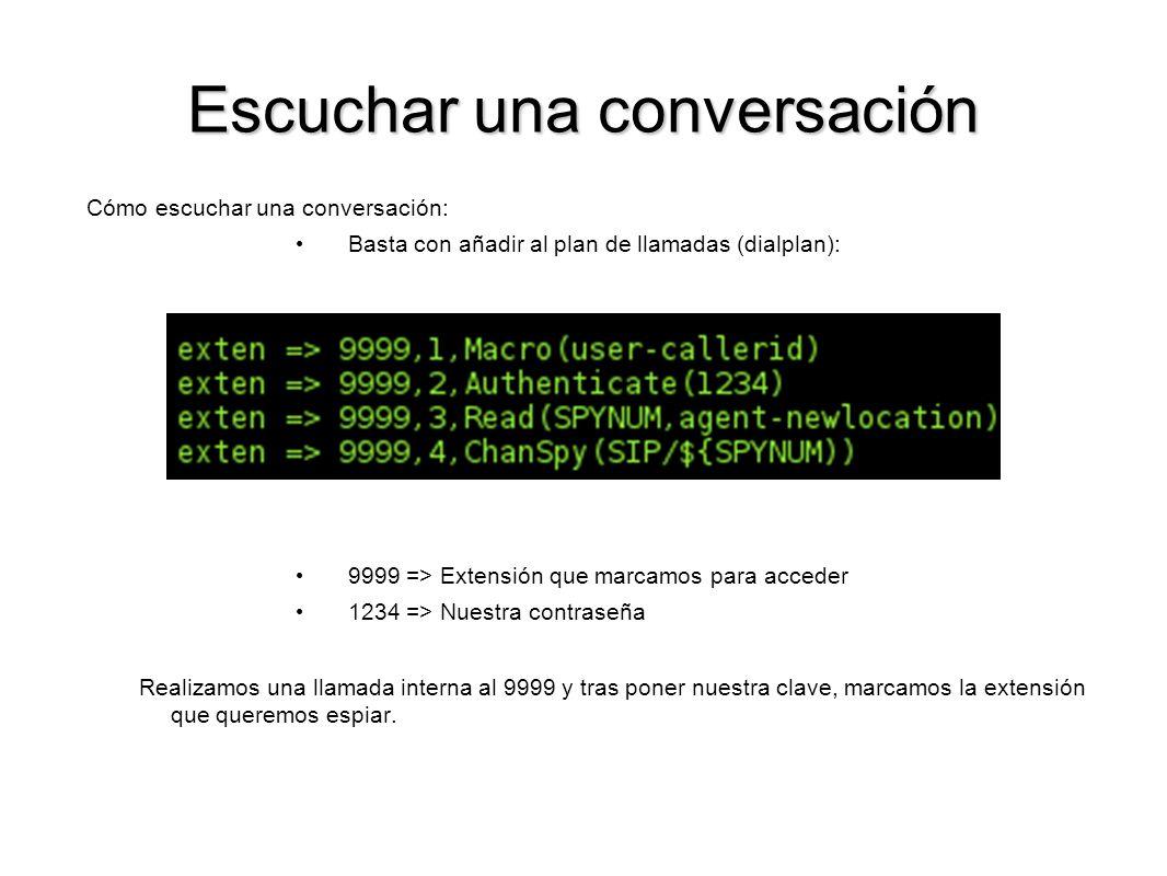 Escuchar una conversación