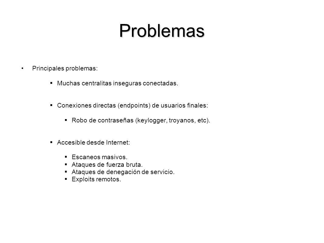 Problemas Principales problemas: