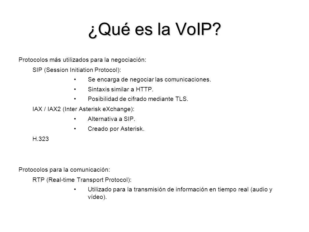 ¿Qué es la VoIP Protocolos más utilizados para la negociación: