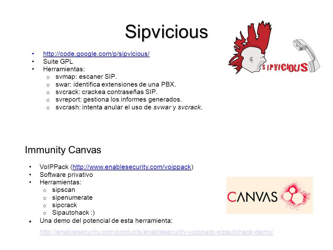 Sipvicious Immunity Canvas http://code.google.com/p/sipvicious/