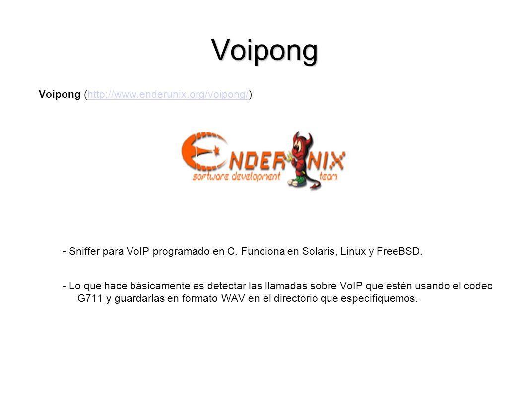 Voipong Voipong (http://www.enderunix.org/voipong/)