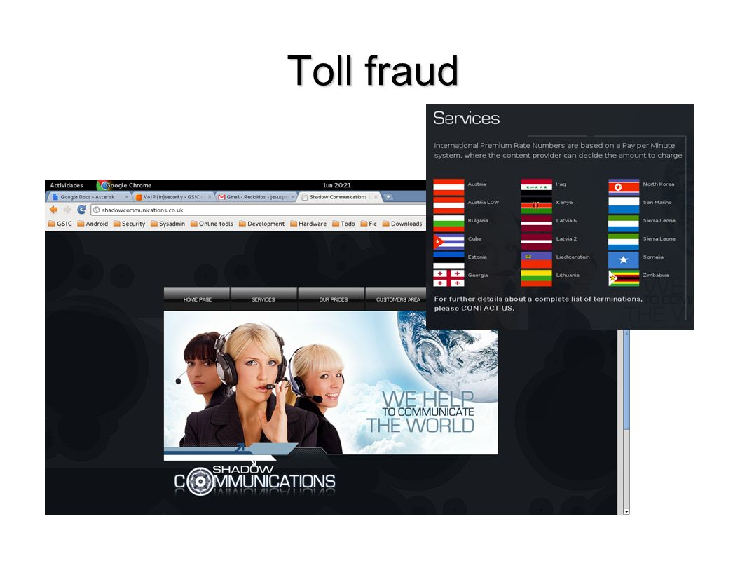 Toll fraud