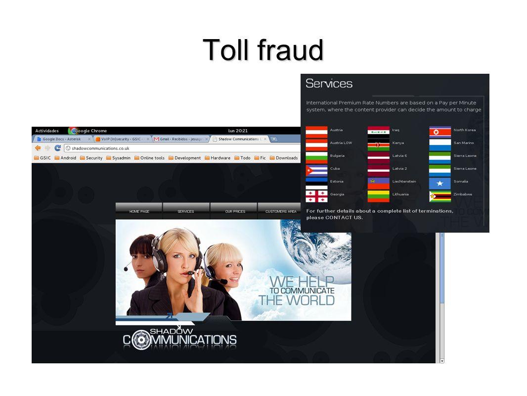 Toll fraud