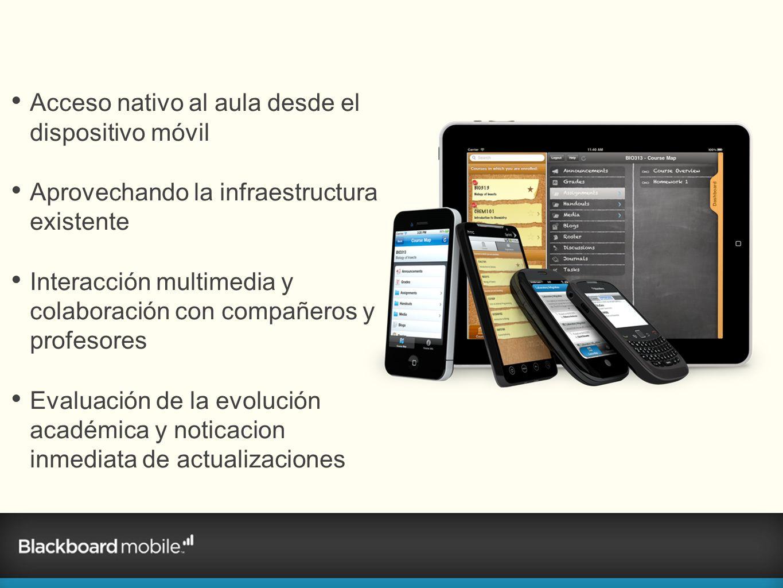 Acceso nativo al aula desde el dispositivo móvil