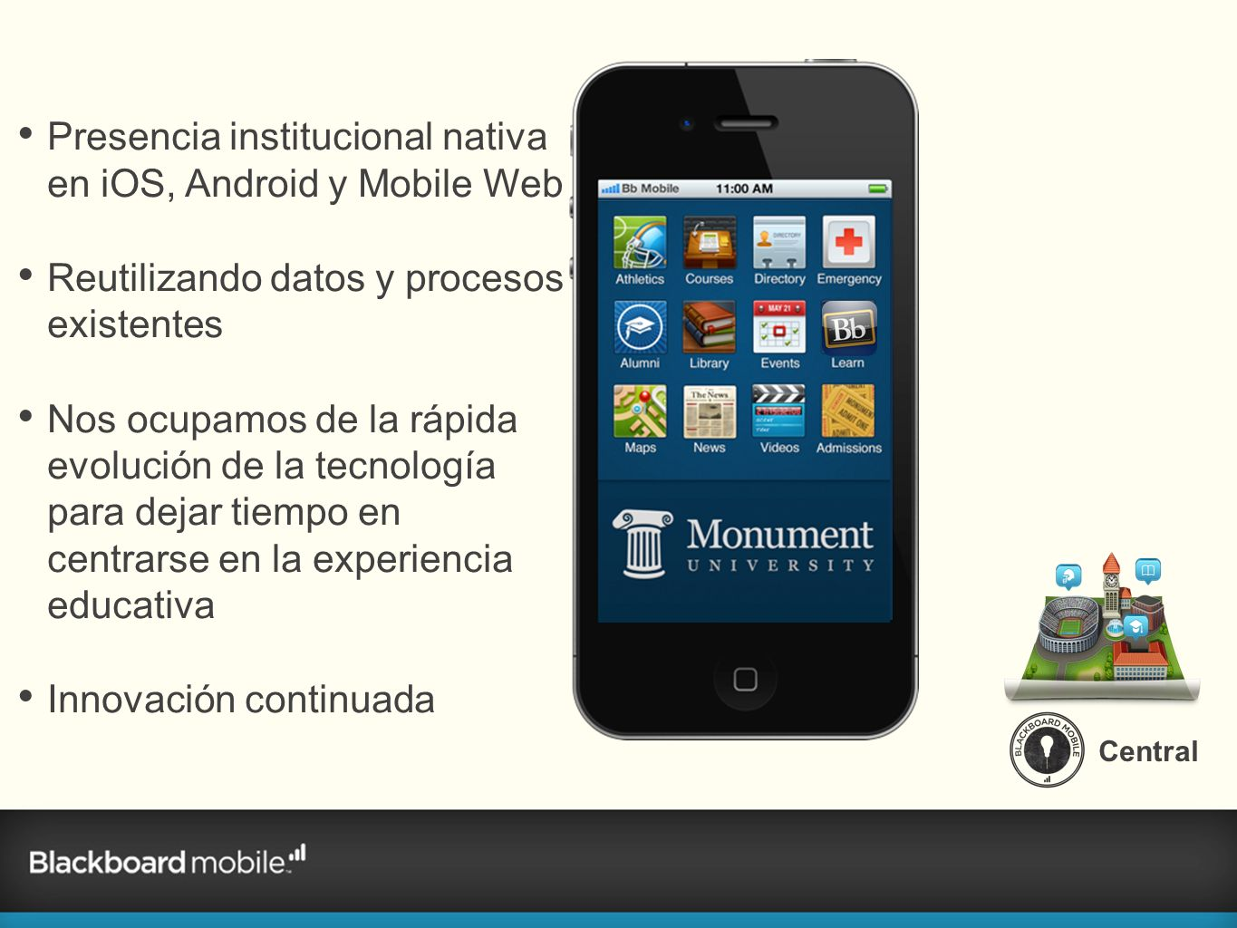 Presencia institucional nativa en iOS, Android y Mobile Web