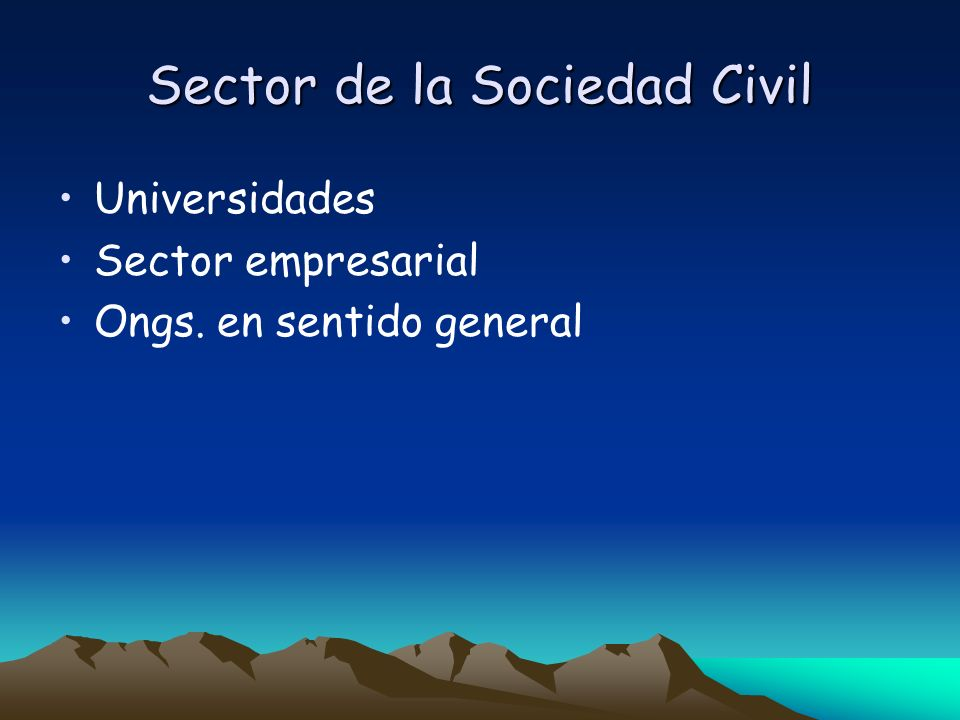 Sector de la Sociedad Civil