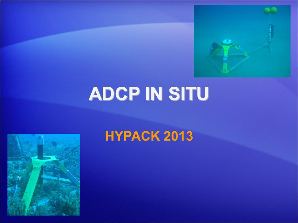 ADCP IN SITU HYPACK