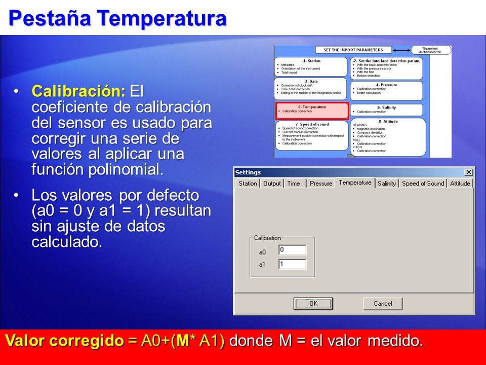 Pestaña Temperatura