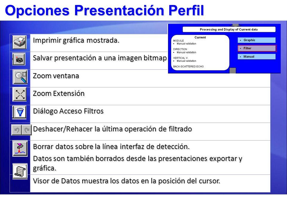 Opciones Presentación Perfil