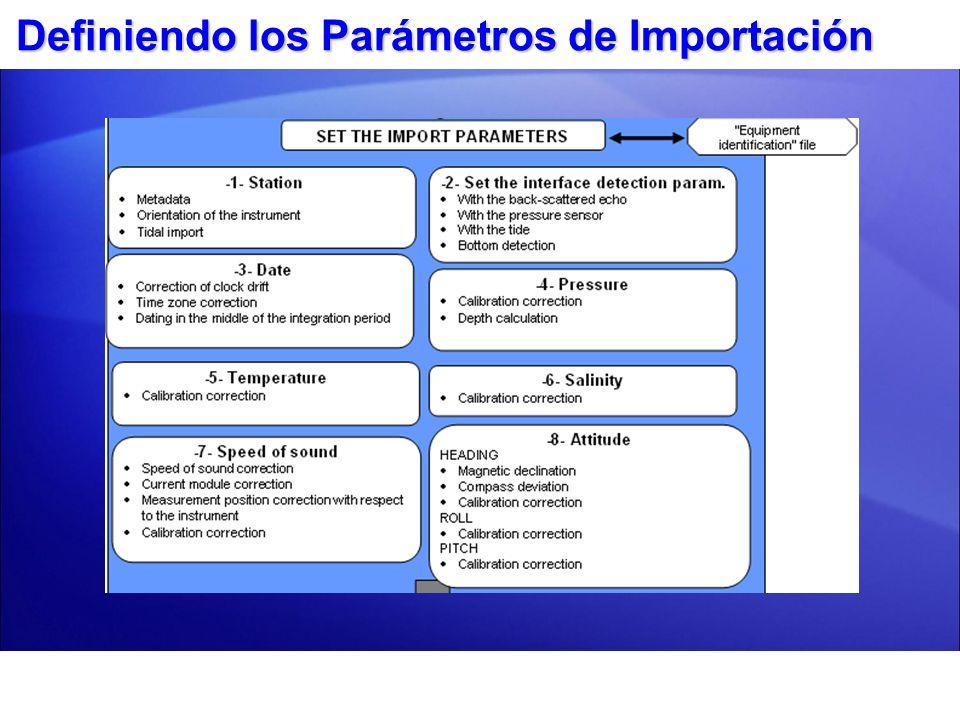 Definiendo los Parámetros de Importación