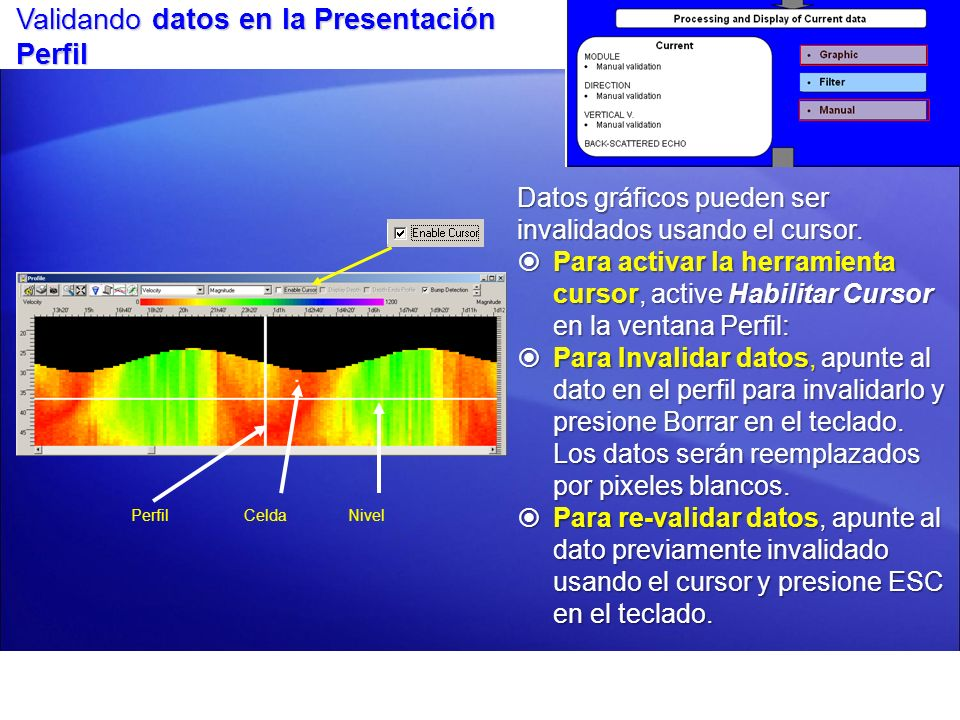 Validando datos en la Presentación Perfil