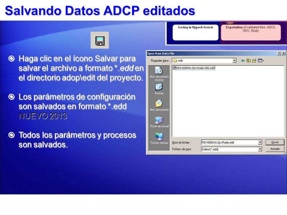Salvando Datos ADCP editados