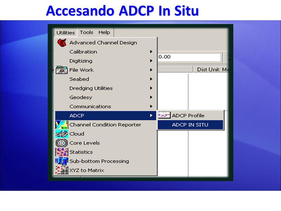 Accesando ADCP In Situ