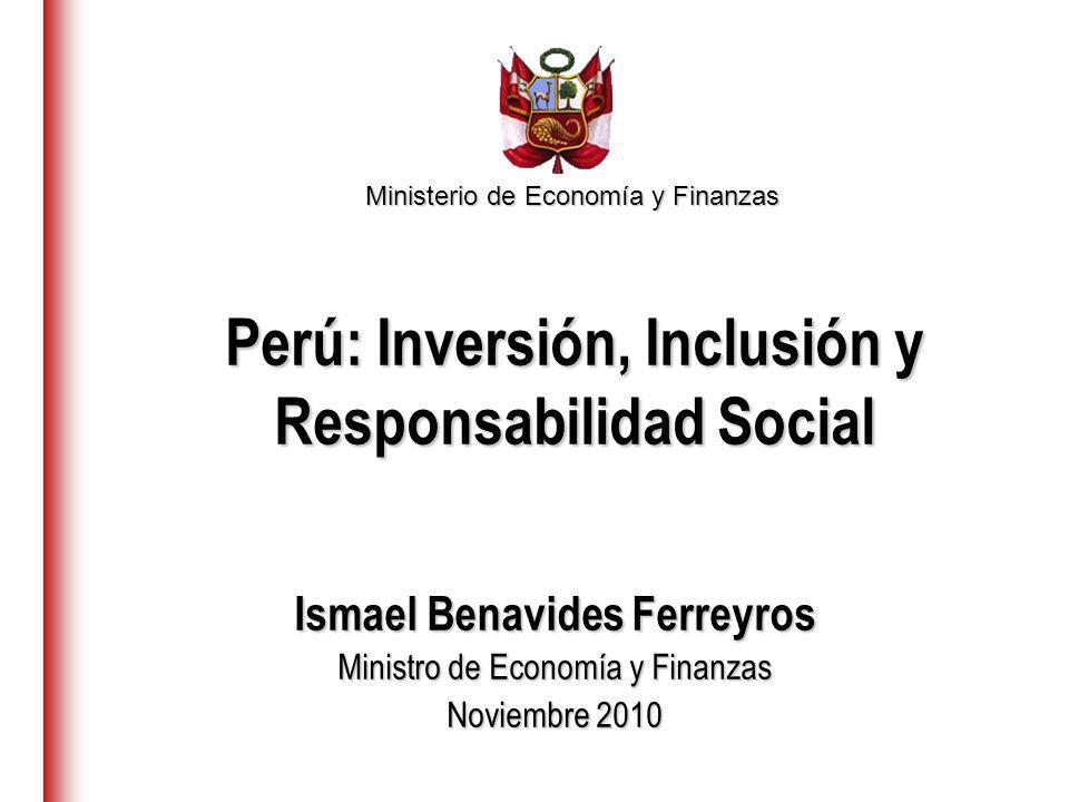 Perú: Inversión, Inclusión y Responsabilidad Social