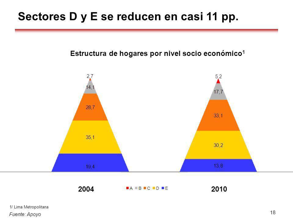 Estructura de hogares por nivel socio económico1