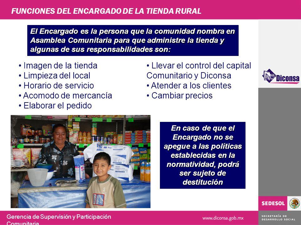 FUNCIONES DEL ENCARGADO DE LA TIENDA RURAL