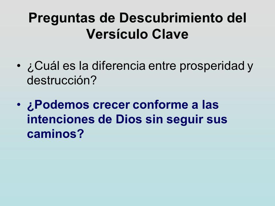 Preguntas de Descubrimiento del Versículo Clave