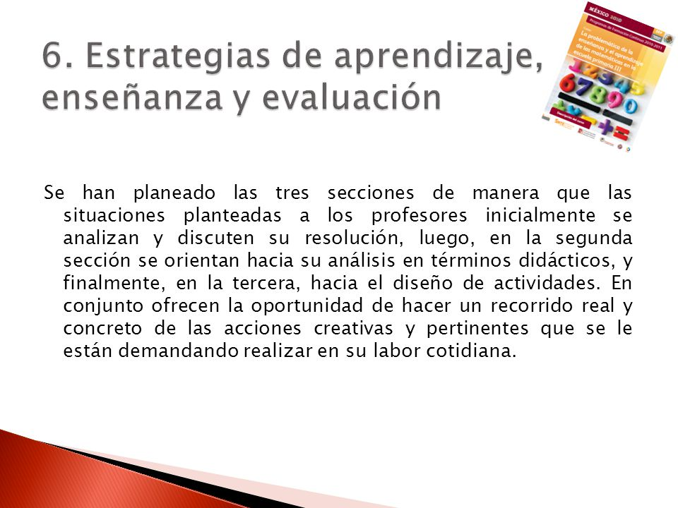 6. Estrategias de aprendizaje, enseñanza y evaluación