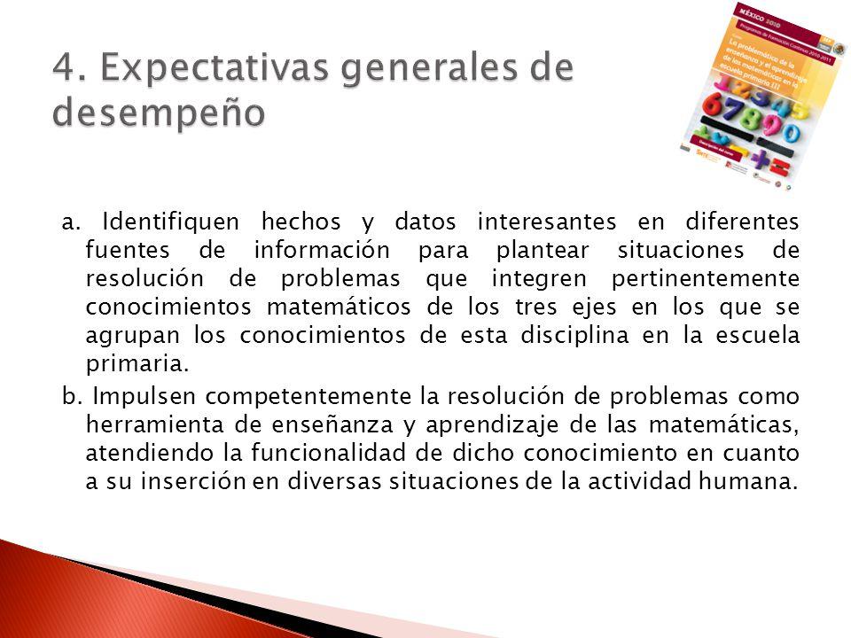 4. Expectativas generales de desempeño