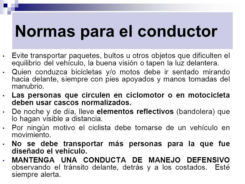 Normas para el conductor