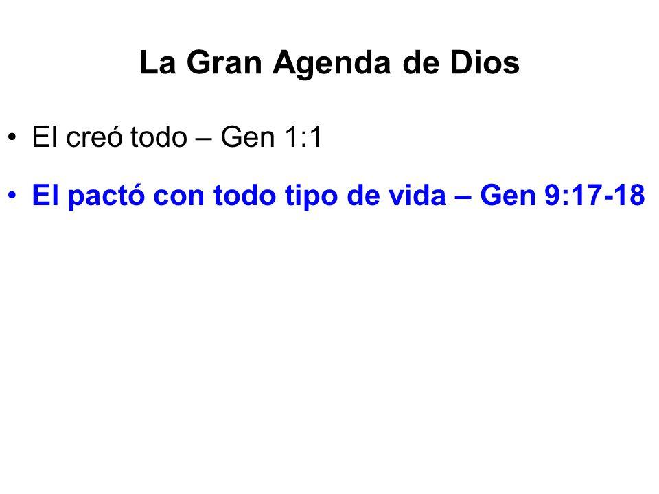 La Gran Agenda de Dios El creó todo – Gen 1:1