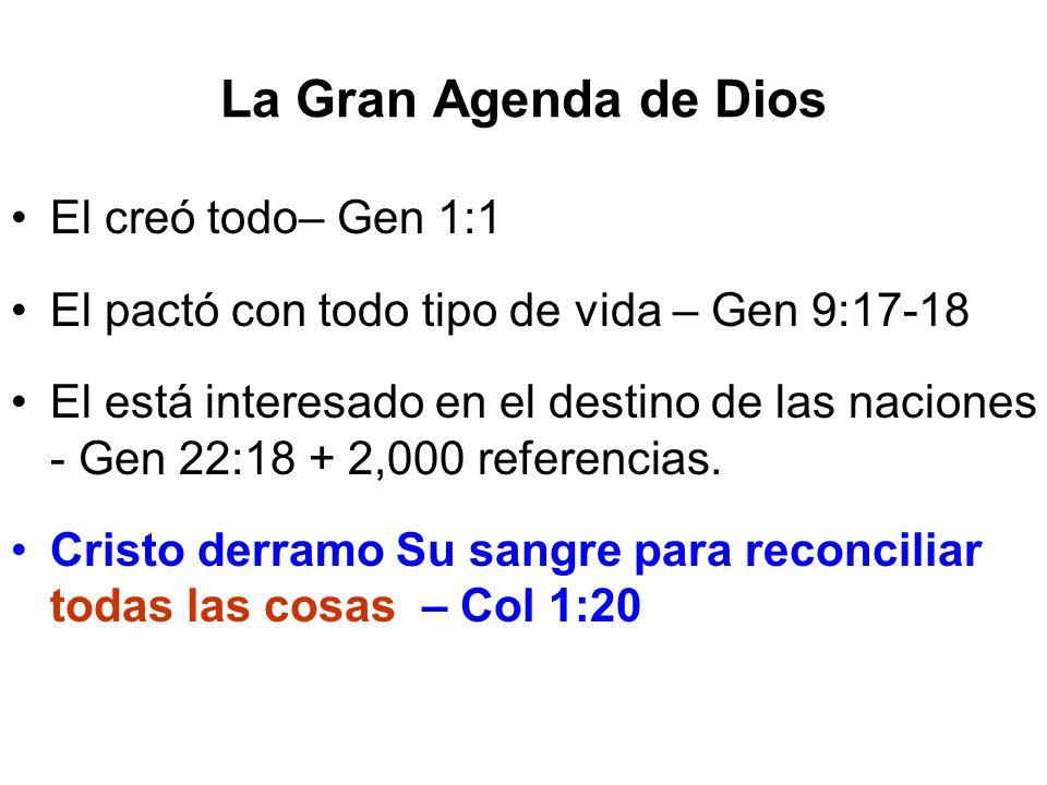 La Gran Agenda de Dios El creó todo– Gen 1:1